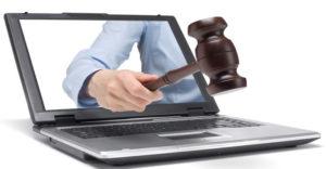 Размещение информации о торгах арестованного имущества в интернете