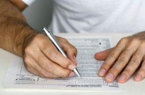 Заполнение бланка декларации об объекте недвижимого имущества