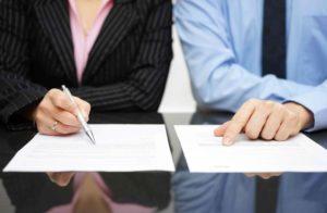 Подписание акта приема передачи имущества