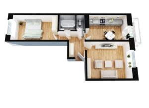 Раздел квартиры возможен только при наличии изолированных комнат