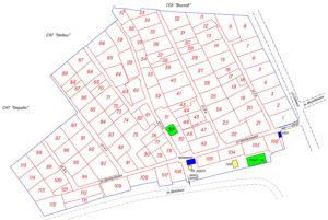 Составление плана территории садового товарищества
