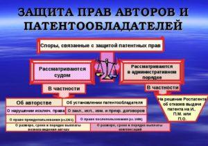 Защита прав авторов и патентообладателей