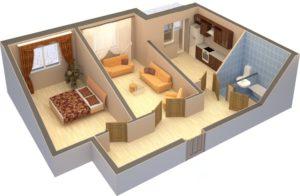 Перепланировка квартиры в доме из железобетонных панелей