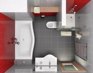 Допускается демонтаж перегородки между санузлом и ванной