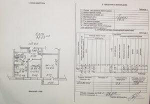 План и характеристика помещений квартиры