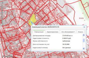 Поиск информации по публичной кадастровой карте