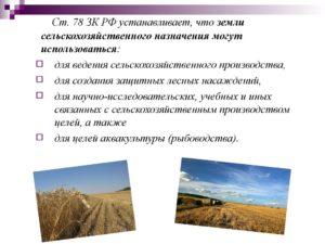 Использование сельхозугодий