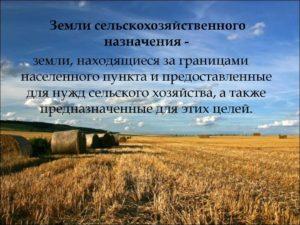 Что относится к сельхозугодьям